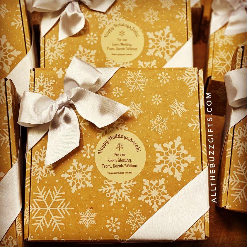Happy holidays gift box San Jose