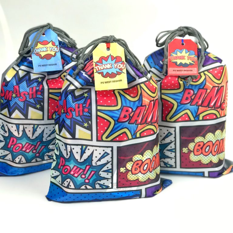 essential workers gift bag super hero theme